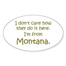 From Montana Oval Decal