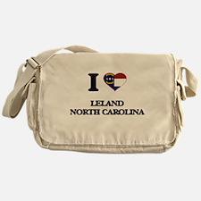 I love Leland North Carolina Messenger Bag