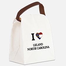 I love Leland North Carolina Canvas Lunch Bag