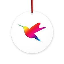 Rainbow Hummingbird Ornament (Round)