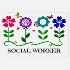 Social Worker, Flowers and Butterflies and Pretty