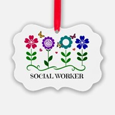 Social Worker, Flowers and Butter Ornament