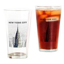 Funny New york city skyline Drinking Glass
