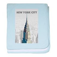 Funny New york broadway baby blanket