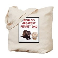 Worlds Greatest Ferret Dad Tote Bag