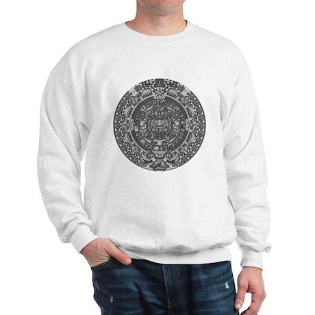 mayan calender dark Sweatshirt