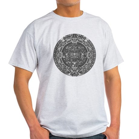 mayan calender dark Light T-Shirt