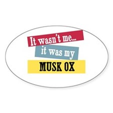 Musk Ox Oval Decal