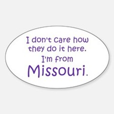 From Missouri Oval Decal