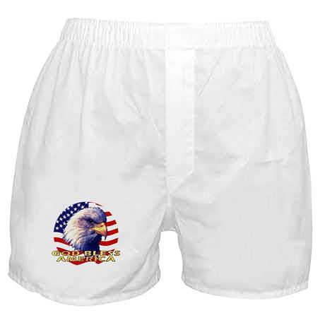 Gob Bless America Patriotic Boxer Shorts