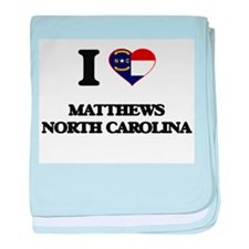 I love Matthews North Carolina baby blanket