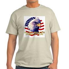 Gob Bless America Patriotic Ash Grey T-Shirt