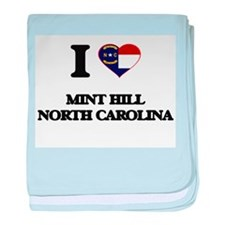 I love Mint Hill North Carolina baby blanket