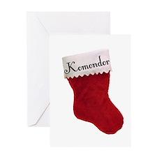 Komondor Stocking Greeting Card