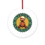 Teddy Bear Explorer Ornament (Round)
