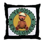 Teddy Bear Explorer Throw Pillow