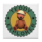 Teddy Bear Explorer Tile Drink Coaster