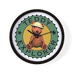 Teddy Bear Explorer Wall Clock
