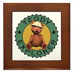 Teddy Bear Explorer Framed Tile