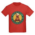 Teddy Bear Explorer Kids Dark Colored T-Shirt