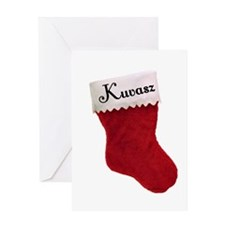 Kuvasz Stocking Greeting Card