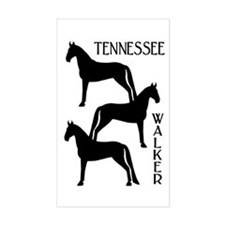Tennessee Walkers Trio Rectangle Decal