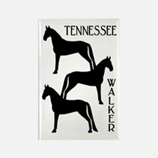 Tennessee Walkers Trio Rectangle Magnet