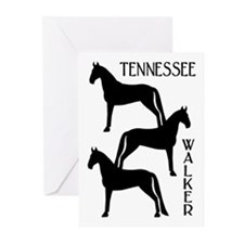 Tennessee Walkers Trio Greeting Cards (Pk of 10)
