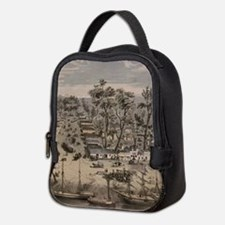 Vintage Pictorial Map of Sacram Neoprene Lunch Bag