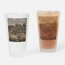 Vintage Pictorial Map of Sacramento Drinking Glass