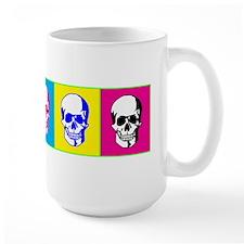 3 Skulls Pop Art Graphic Design Mugs