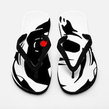 Terminator Dj Skull Dubstep Cyber Punk Flip Flops