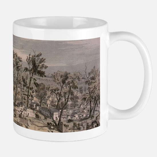 Vintage Pictorial Map of Sacramento (1850) Mugs