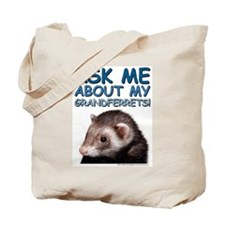 Ask Me About (blue) Tote Bag