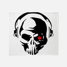Terminator Dj Skull Dubstep Cyber Pu Throw Blanket