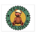 Teddy Bear Explorer Small Poster