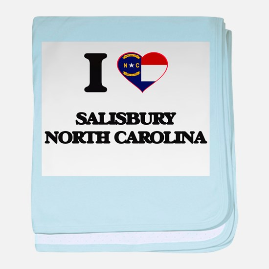 I love Salisbury North Carolina baby blanket