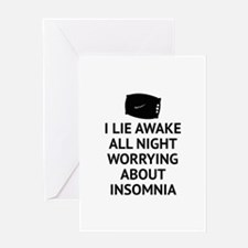 Worrying About Insomnia Greeting Card