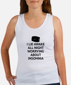 Worrying About Insomnia Women's Tank Top