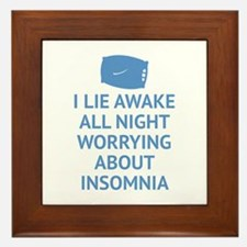 Worrying About Insomnia Framed Tile