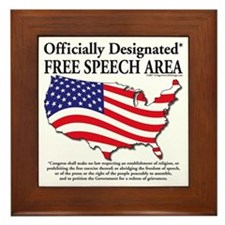 Cute Right to free speech Framed Tile