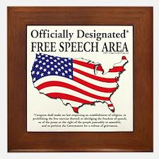 Cute Free speech Framed Tile