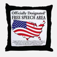 Cute First amendment Throw Pillow