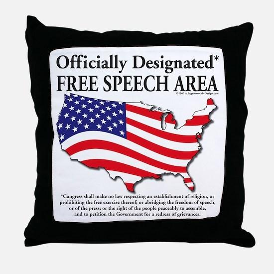 Cute Free speech Throw Pillow