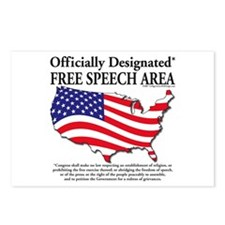 Unique Right to free speech Postcards (Package of 8)