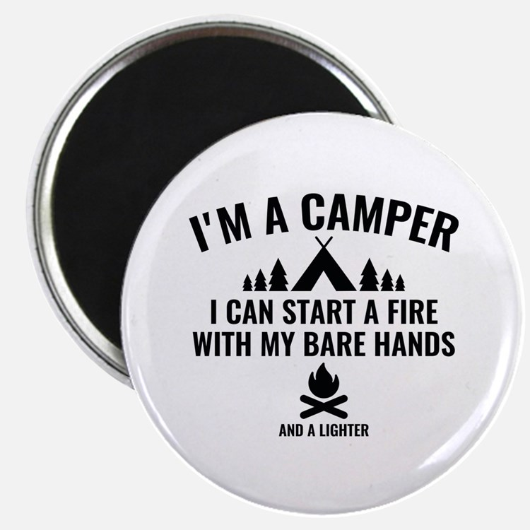 "I'm A Camper 2.25"" Magnet (100 pack)"