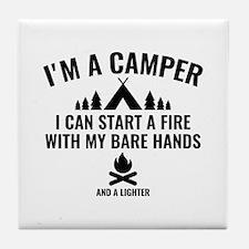I'm A Camper Tile Coaster