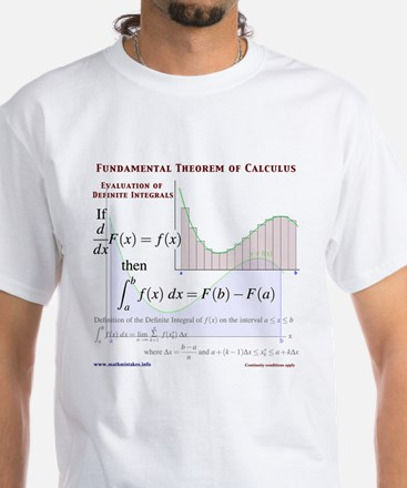 Fundamental Theorem of Calculus White T-Shirt