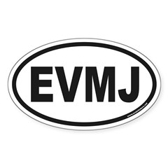 EVMJ Oval Decal