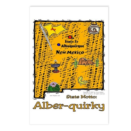 NM-Alber-quirky! Postcards (Package of 8)